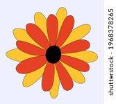 vector isolated hippie flower... | Shutterstock .eps vector #1968378265