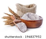 Whole Grain Flour In A Bowl An...