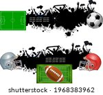 american football and europe... | Shutterstock . vector #1968383962