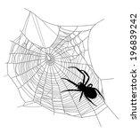 spider on the web   black... | Shutterstock . vector #196839242