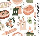 cute zero waste kitchen... | Shutterstock .eps vector #1968404758