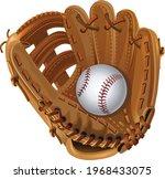 Baseball mitt and Baseball Ball