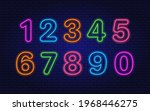 collection of numbers. neon... | Shutterstock .eps vector #1968446275