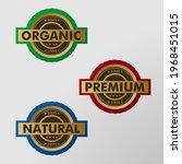 organic  herbal  and premium... | Shutterstock .eps vector #1968451015