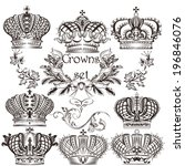 vector set of  crowns for your... | Shutterstock .eps vector #196846076
