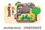 boy kid  father parent taking... | Shutterstock .eps vector #1968540655