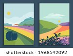 abstract coloful landscape... | Shutterstock .eps vector #1968542092