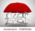 Red Umbrella Money Signs