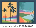 abstract colourful landscape... | Shutterstock .eps vector #1968543448