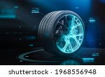 futuristic sports car tyre...
