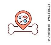 bone marrow rgb color icon.... | Shutterstock .eps vector #1968558115