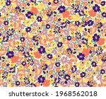 elegant colored liberty floral...   Shutterstock .eps vector #1968562018