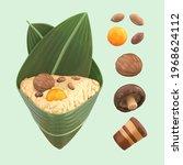 3d isolated elements of zongzi... | Shutterstock .eps vector #1968624112