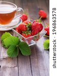 fresh organic strawberry on... | Shutterstock . vector #196863578