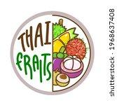 logo thai fruit  on background... | Shutterstock .eps vector #1968637408