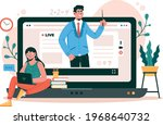 communication  meeting  online...   Shutterstock .eps vector #1968640732