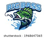 largemouth bass fish mascot logo | Shutterstock .eps vector #1968647365