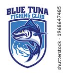 vector of tuna fishing mascot... | Shutterstock .eps vector #1968647485