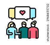 meeting with girlfriends...   Shutterstock .eps vector #1968655732