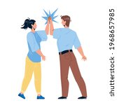 man giving high five young... | Shutterstock .eps vector #1968657985