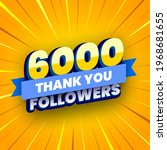 6000 followers banner with blue ... | Shutterstock .eps vector #1968681655