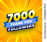 7000 followers banner with blue ... | Shutterstock .eps vector #1968681922