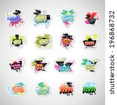 summer party labels and... | Shutterstock .eps vector #196868732