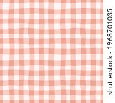 check pattern in earthy pink.... | Shutterstock .eps vector #1968701035