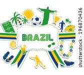 brazil background | Shutterstock .eps vector #196870436