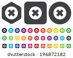 cancel icon | Shutterstock .eps vector #196872182