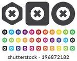 cancel icon | Shutterstock .eps vector #196872182