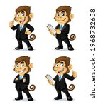 monkey mascot design wearing a... | Shutterstock .eps vector #1968732658
