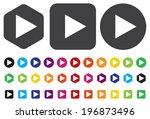 play button web icon | Shutterstock .eps vector #196873496