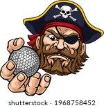 a pirate golf sports mascot...   Shutterstock .eps vector #1968758452