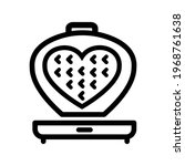 vector waffle iron icon....   Shutterstock .eps vector #1968761638