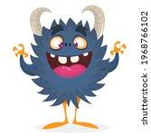 happy cartoon monster....   Shutterstock .eps vector #1968766102