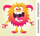 happy cartoon monster....   Shutterstock .eps vector #1968766165