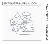 camping line icon.tent on river ... | Shutterstock .eps vector #1968777982