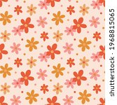 retro seamless pattern with... | Shutterstock .eps vector #1968815065