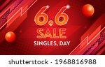 vector singles day sale6.6... | Shutterstock .eps vector #1968816988
