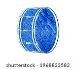 Drum Musical Tool Blue Waves...