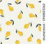 seamless pattern of pears...   Shutterstock .eps vector #1968825262