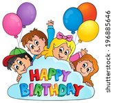 happy birthday topic image 5  ... | Shutterstock .eps vector #196885646