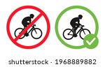 cycling prohibited and riding... | Shutterstock .eps vector #1968889882