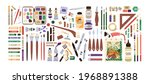 set of artist's painting...   Shutterstock .eps vector #1968891388