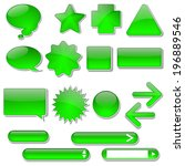 vector green glow buttons with... | Shutterstock .eps vector #196889546