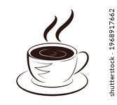 coffee cup icon. hot coffee... | Shutterstock .eps vector #1968917662