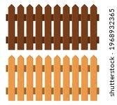 wooden fence set on white... | Shutterstock .eps vector #1968932365