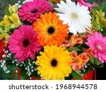 Bright Bouquet Of Colorful...