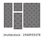art deco cnc pattern.... | Shutterstock .eps vector #1968955378